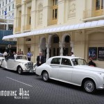 Classic limos make a great entrance to the theatre