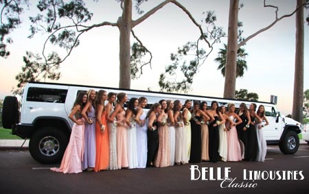 white hummer wedding limo