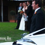 A lovely wedding photo featuring the Bentley