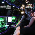 Sally and Lauren enjoying the limo ride to Crown