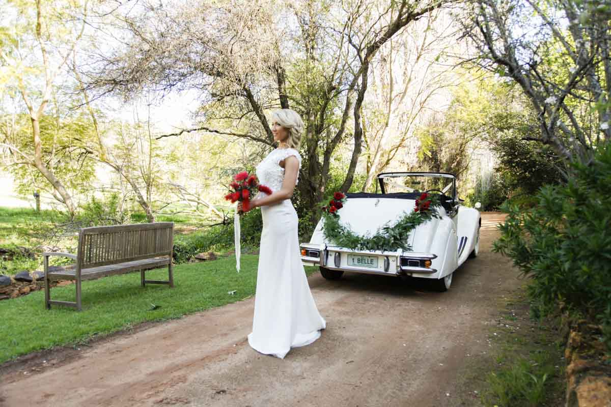 jaguar bridal car